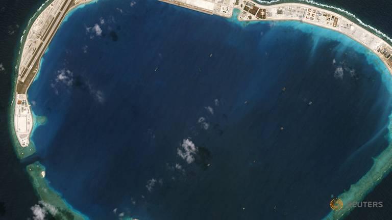 Satellite photo shows Mischief Reef