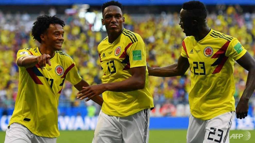 74fbdd76b World Cup  Mina winner sends Colombia through as Senegal go out - CNA