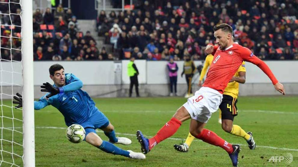 db629835d12 Football  Seferovic hat-trick helps Swiss stun Belgium to reach semi-finals  - CNA