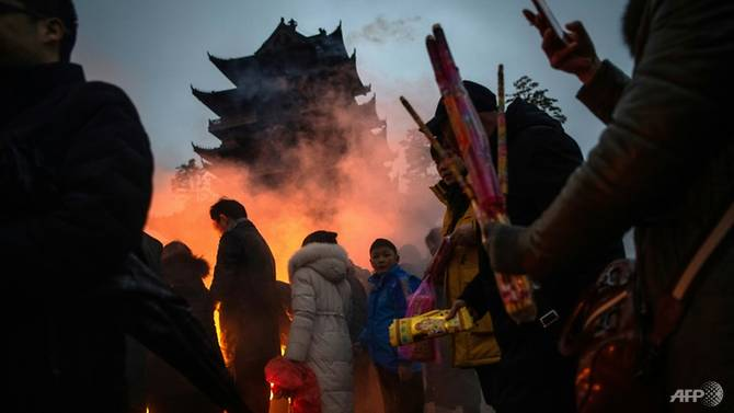 Worshippers burn incense and other offerings on a scale much larger than at any other festival in