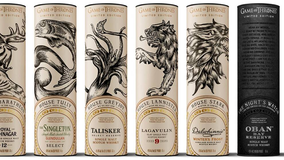 Hbo Releases Limited Edition Game Of Thrones Whiskey Collection Cna