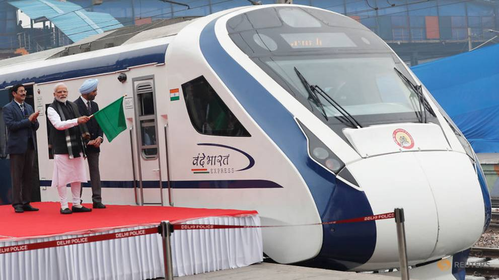 India's semi high-speed train breaks down a day after its launch