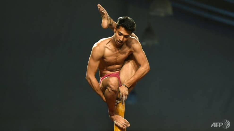 Image result for India hosts first 'yoga on a pole' world championships
