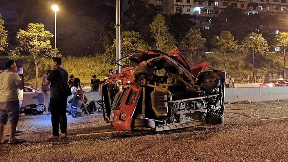 Accident in jb