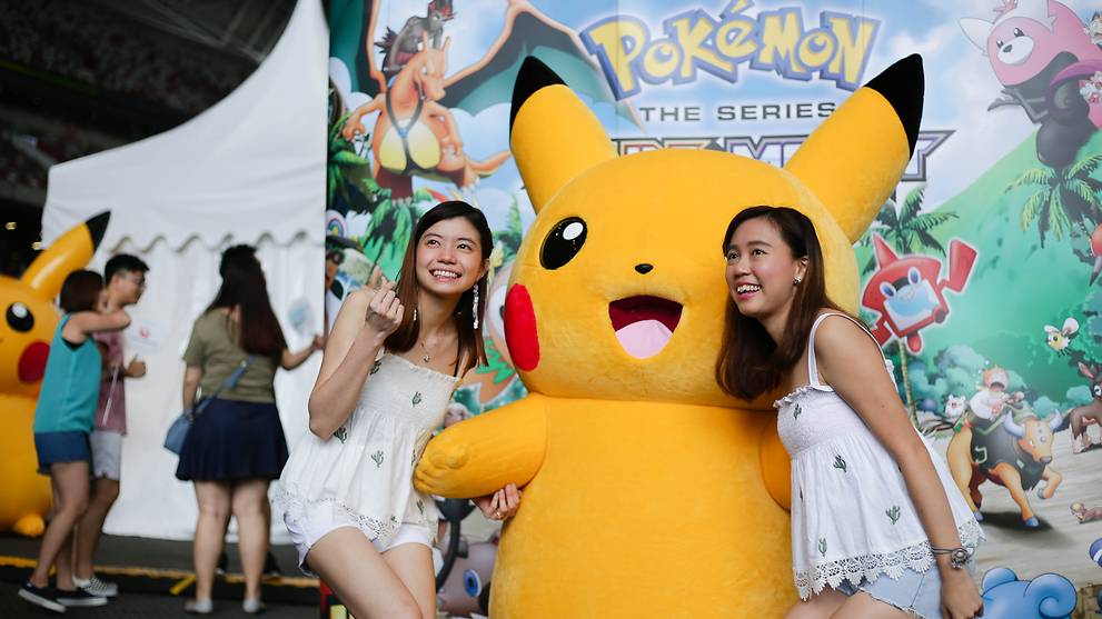 Pokemon Go fans in Sentosa for Southeast Asia's first Safari