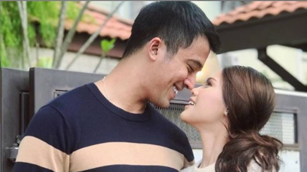 aliff aziz and wife in happier times.