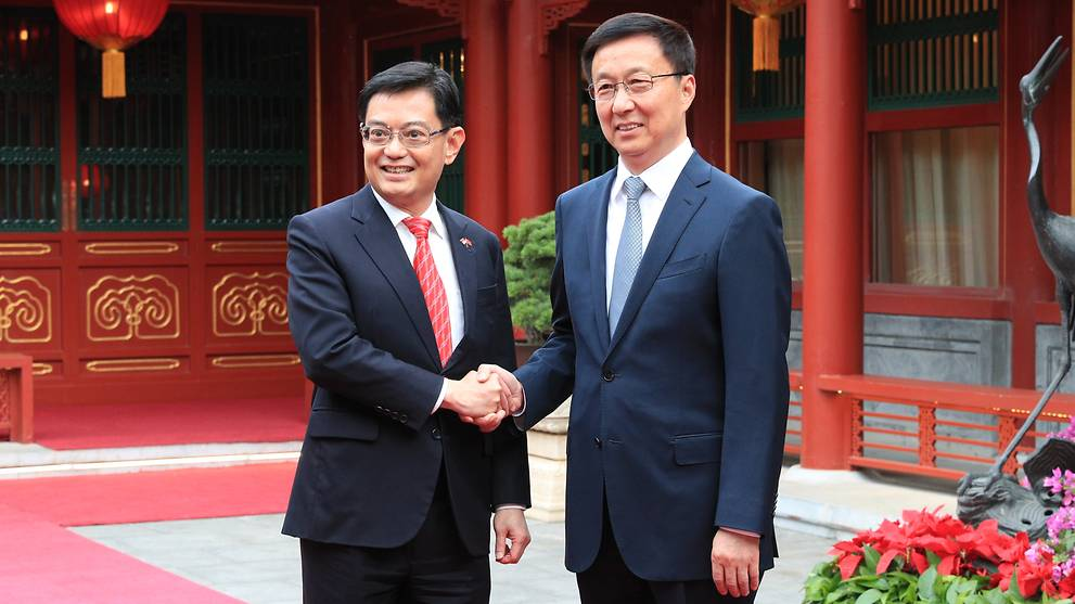 Singapore and China reaffirm ties, importance of rules-based trading system