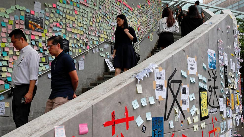 'Cleanup Time': Pro-China lawmaker targets Hong Kong's Lennon Walls