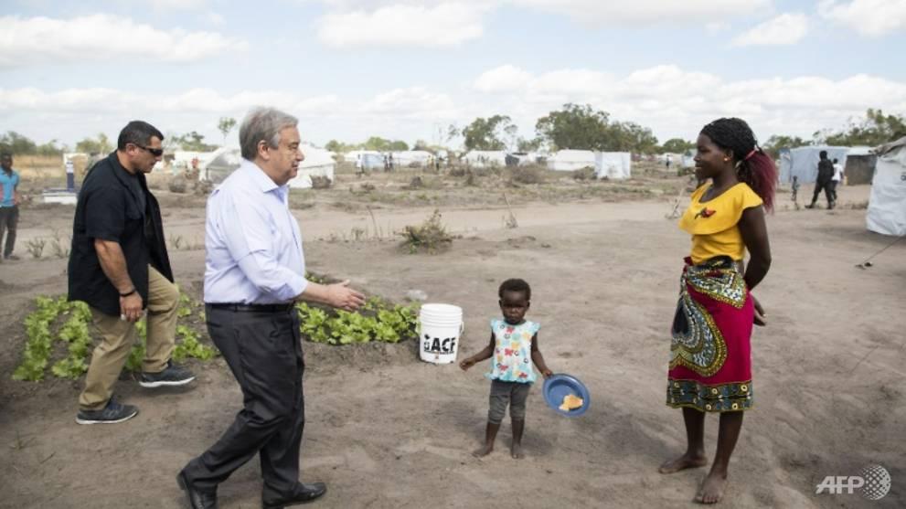 UN chief makes climate change plea in cyclone-hit Mozambique - CNA