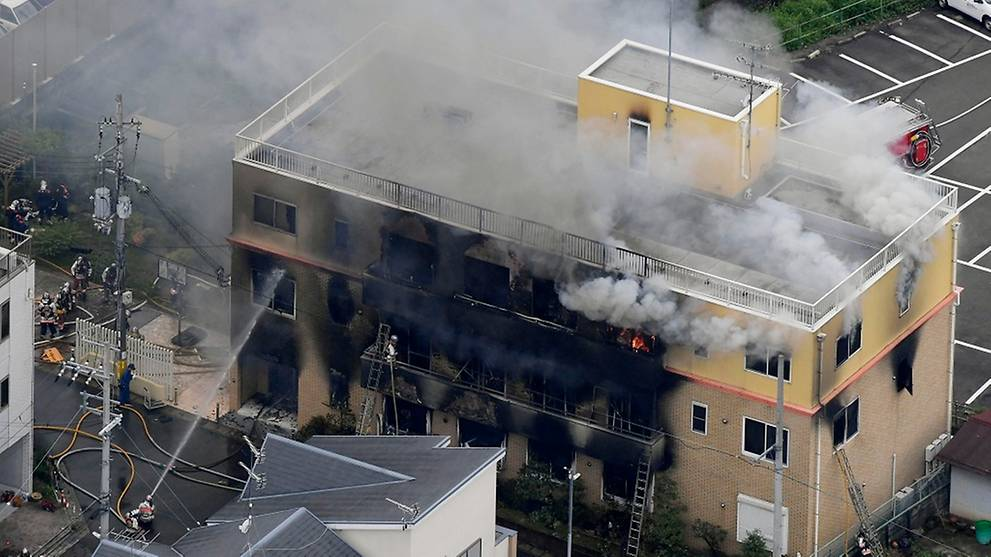 About 30 believed dead in suspected arson at Japan animation studio KyoAni