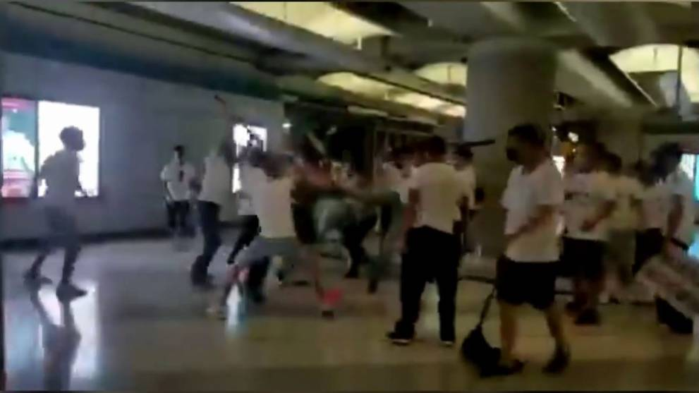 45 injured after mob attack at Hong Kong MTR station - CNA