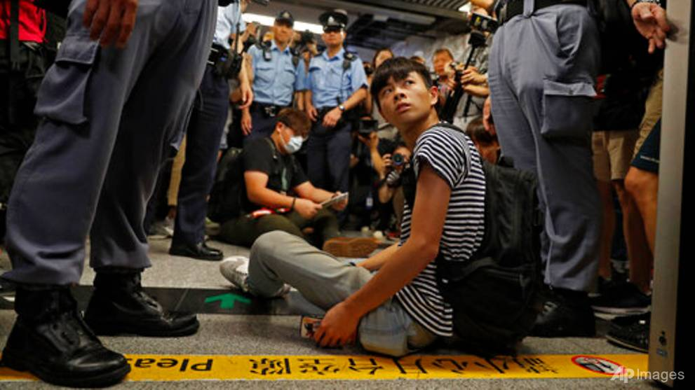 Anti-government protesters disrupt Hong Kong's MTR train