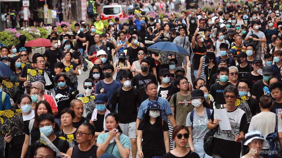 China slams Hong Kong protest violence as 'terrorism'