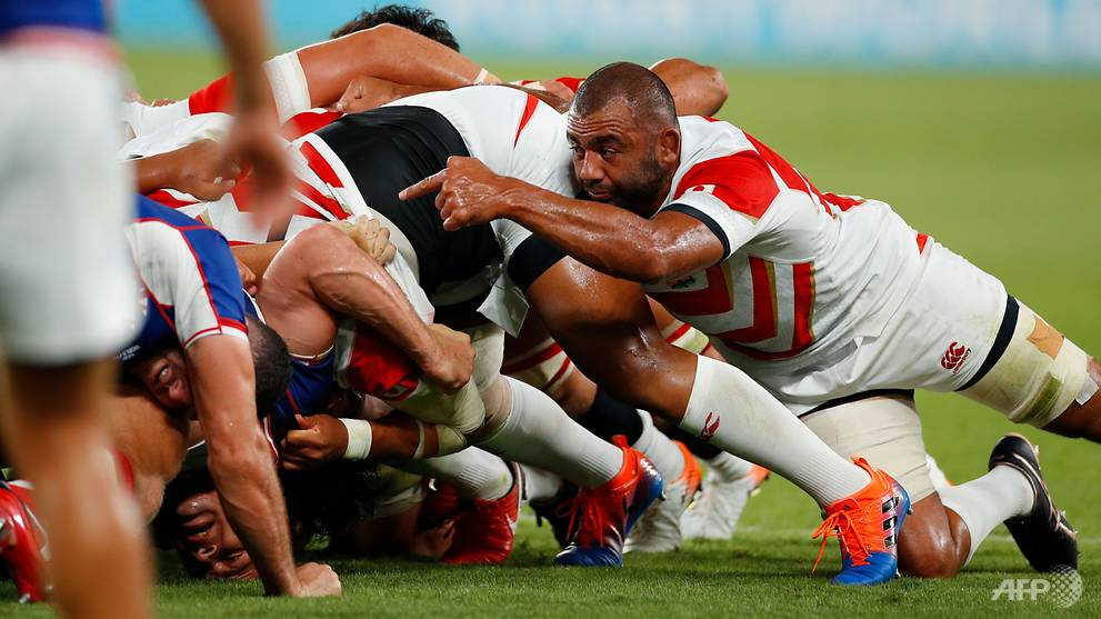 Calm in the storm: Leitch leads Japan to historic win in Rugby World Cup opener