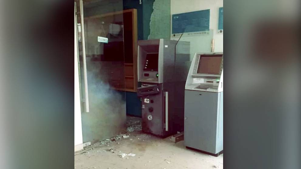 Johor police search for person who attempted to blast open ATM