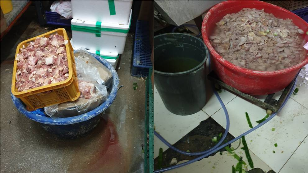 Catering company fined, suspended for improper food storage and dirty kitchen