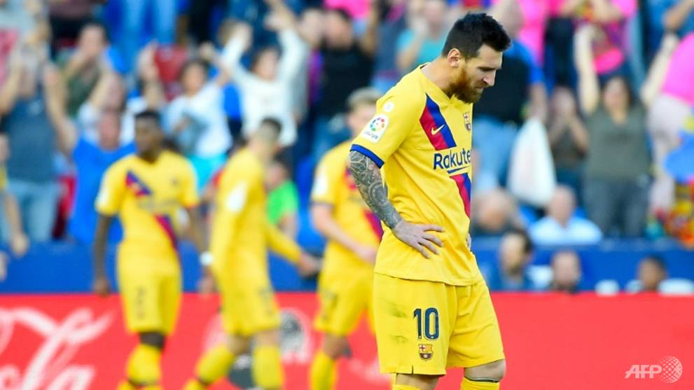 Football: Barcelona stunned by Levante seven-minute blitz but Atletico fail to capitalise