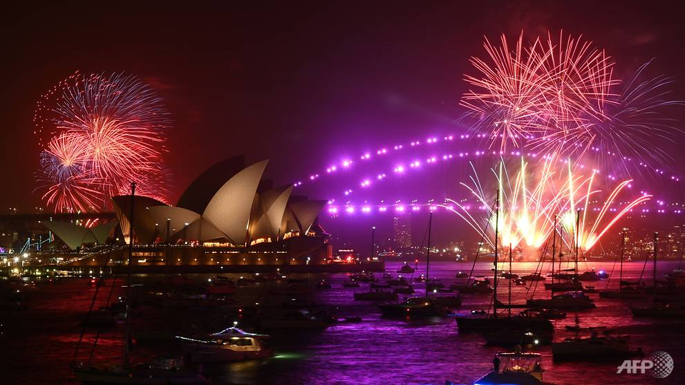 World Welcomes New Year Amid Wildfires And Protests Cna