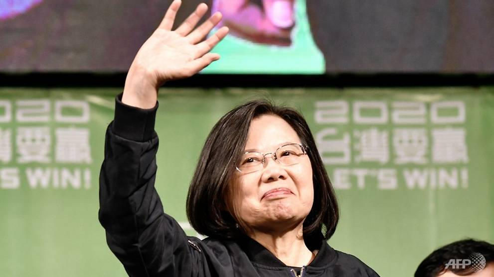 President Tsai Ing-wen declares victory in Taiwan election