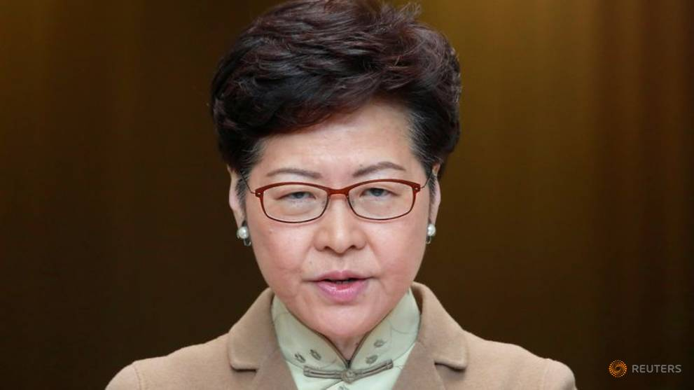 Hong Kong leader Carrie Lam says financial hub's strengths intact despite protests