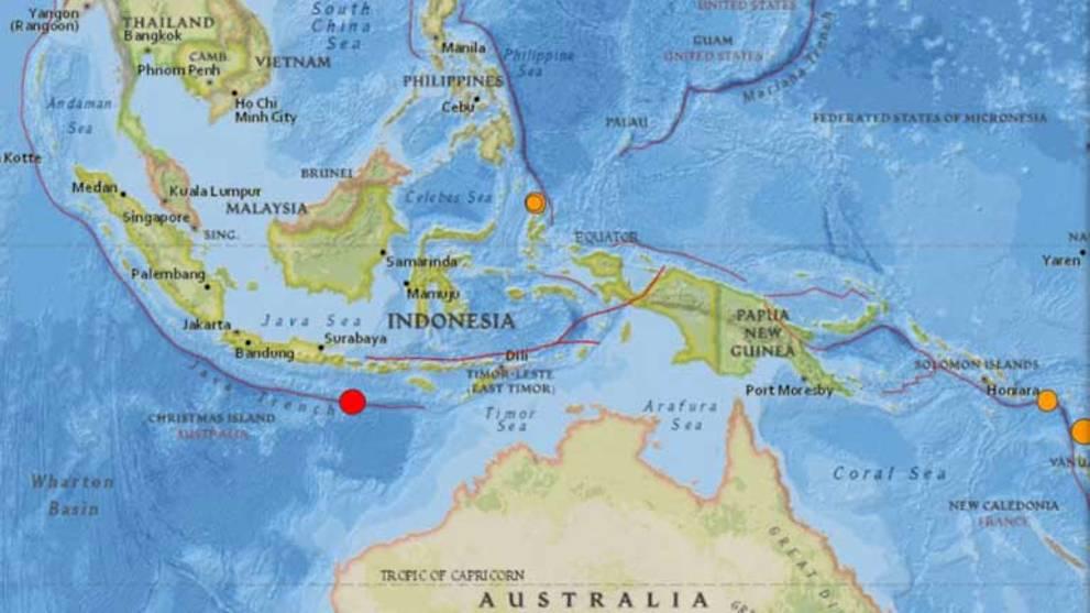 6.3-magnitude quake strikes south of Indonesia's Bali