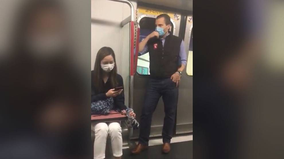 Hedge fund manager apologises for wiping saliva on Hong Kong metro rail