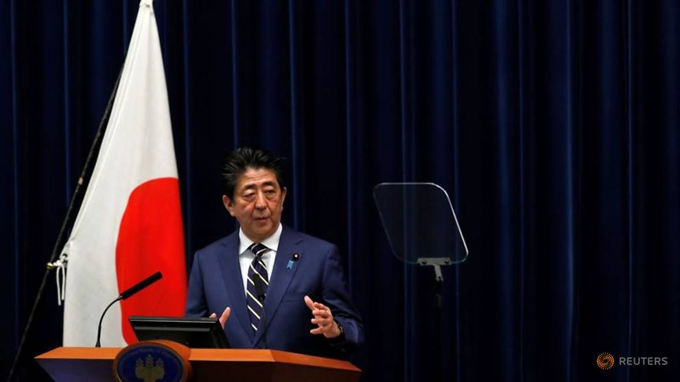 Japan's Abe vows unprecedented stimulus as Tokyo COVID-19 cases rise