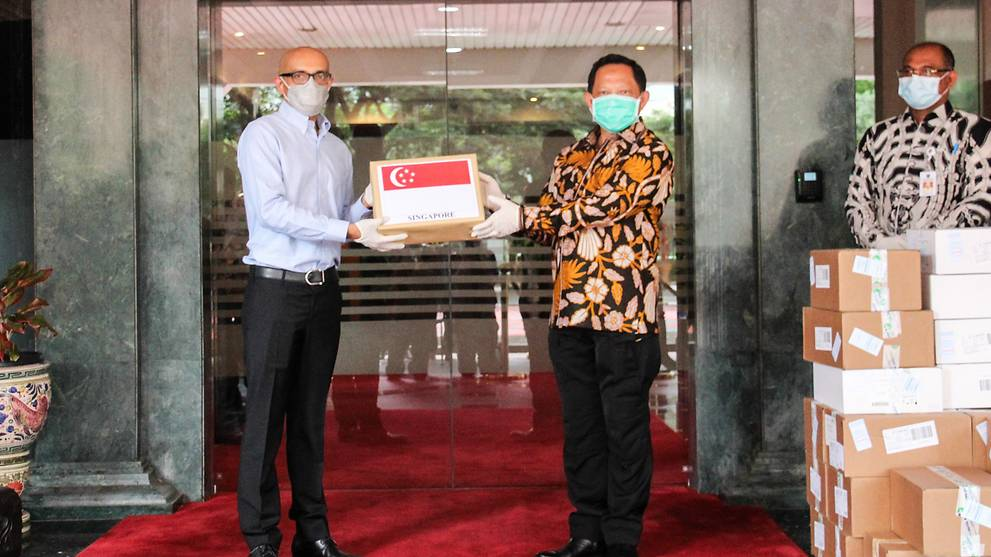 Singapore sends additional medical supplies to support Indonesia's fight against COVID-19
