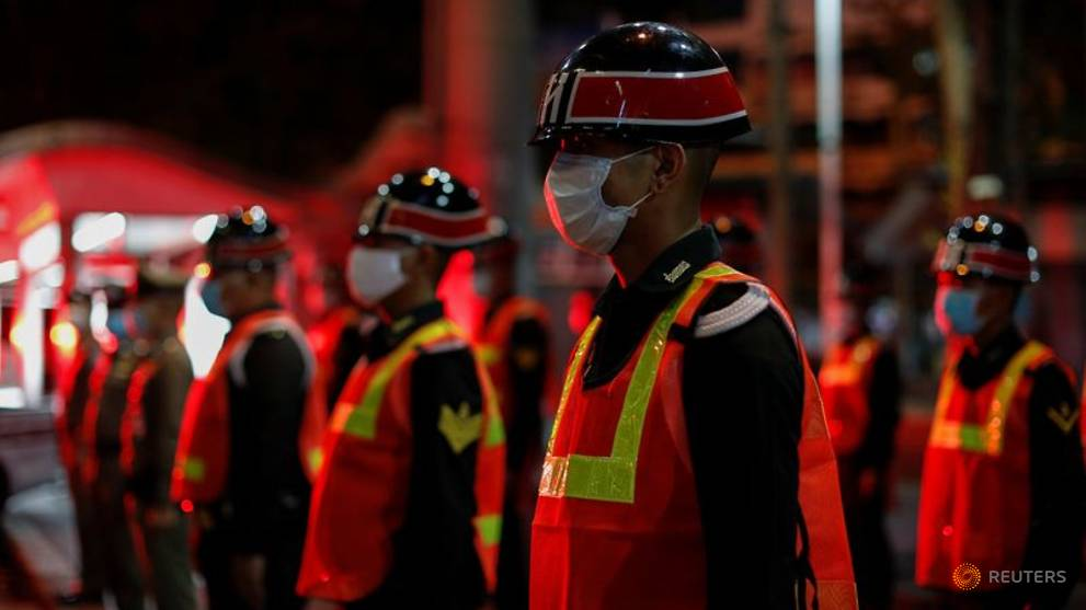 Police, soldiers enforce Thailand's nationwide COVID-19 curfew