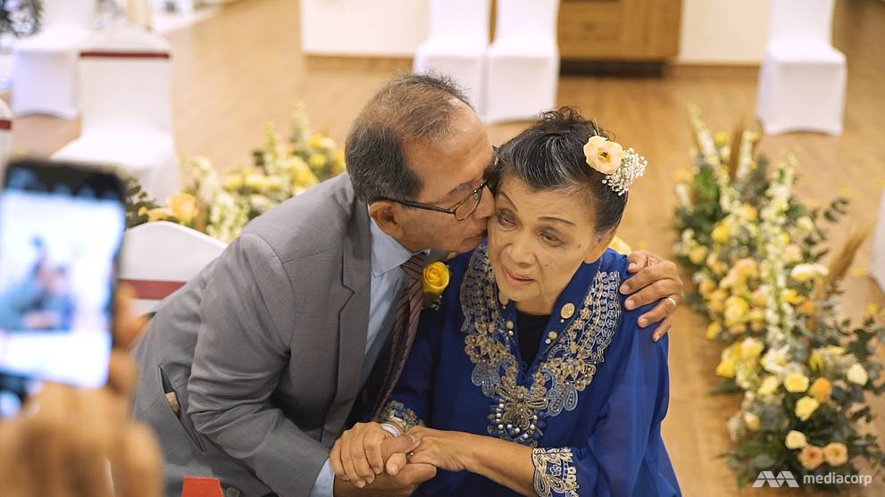 A stroke and Covid-19 didn't stop them marrying at 80. Here's a lesson in love