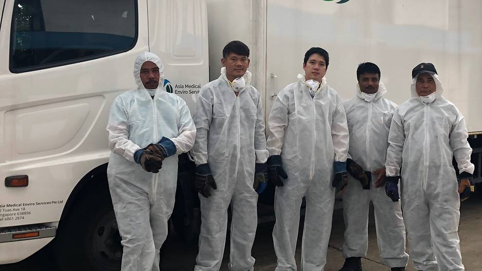 COVID-19: Medical waste workers put in extra hours to handle extra volume