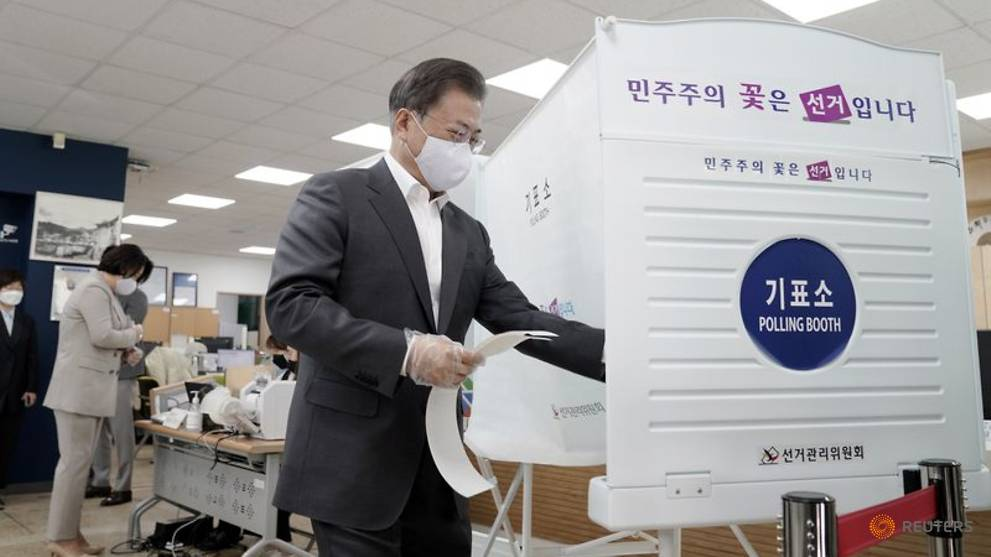 South Korean COVID-19 patients vote as parliamentary election ...