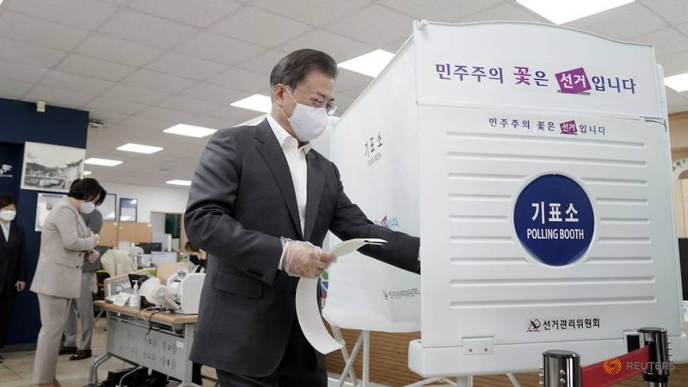 Commentary: Coronavirus? Not a problem for South Korea elections ...
