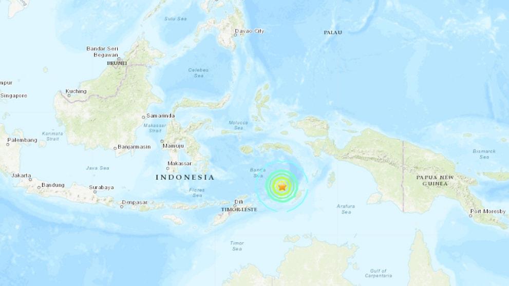 6.9-magnitude earthquake strikes Banda Sea, off Indonesia