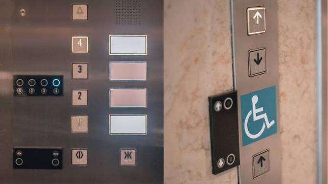 Changi Airport contactless lift buttons