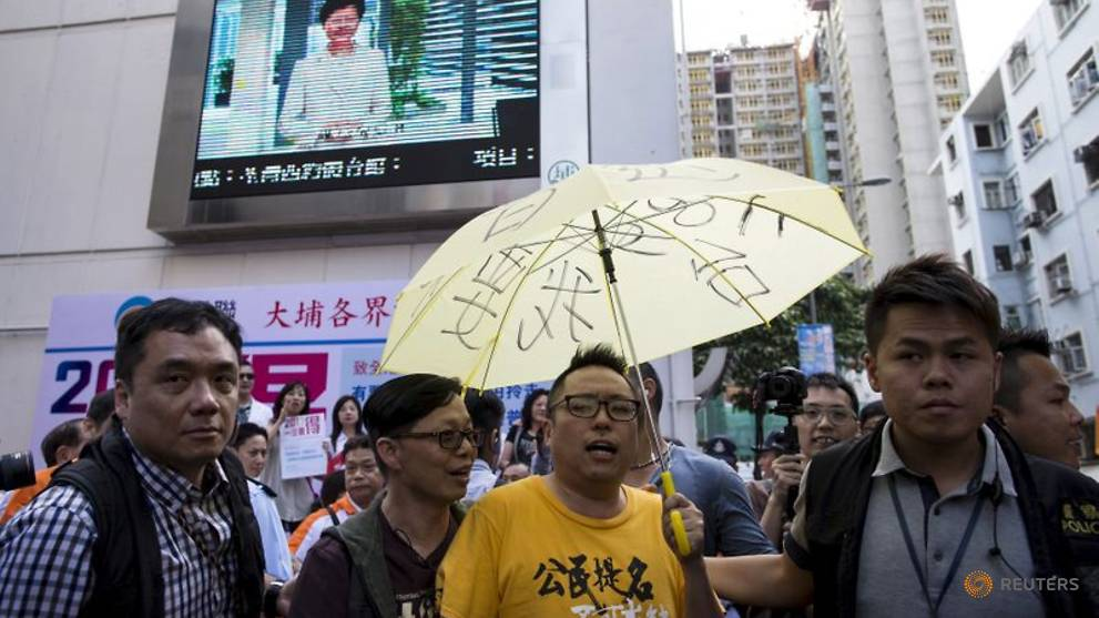 Hong Kong activist charged under archaic sedition law