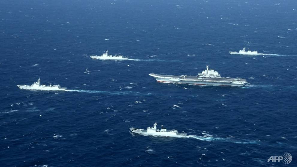 China says aircraft carrier group on way to South China Sea for drills - CNA