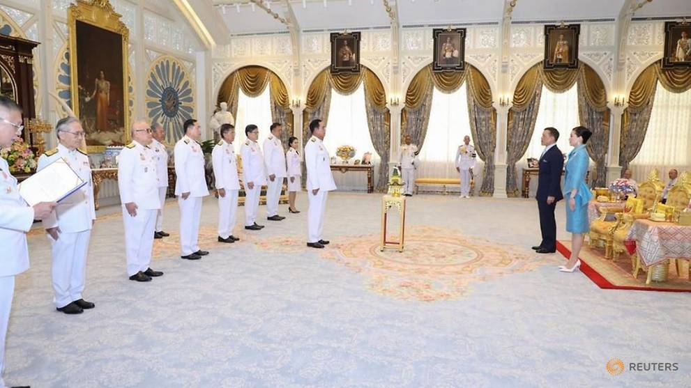 Thailand's king swears in Cabinet, silent on demands for royal reform