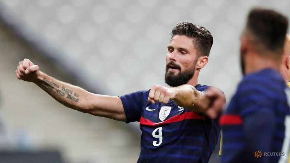 Giroud becomes France's second top scorer in Ukraine rout - CNA