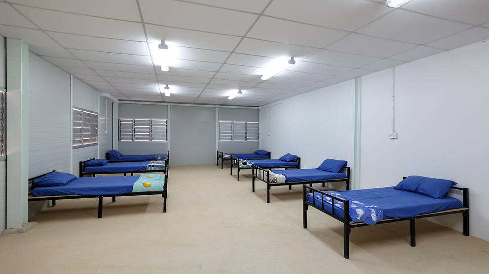 7 Quick Build Dormitories ready to house 8,000 migrant workers
