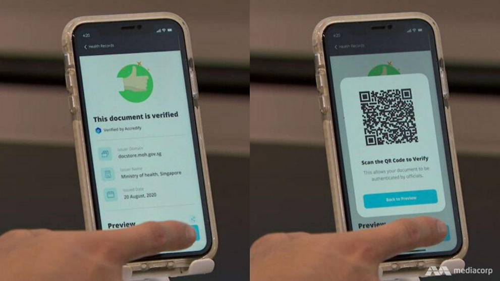 Singapore firms trialling use of digital health passports to verify travellers' COVID-19 test results