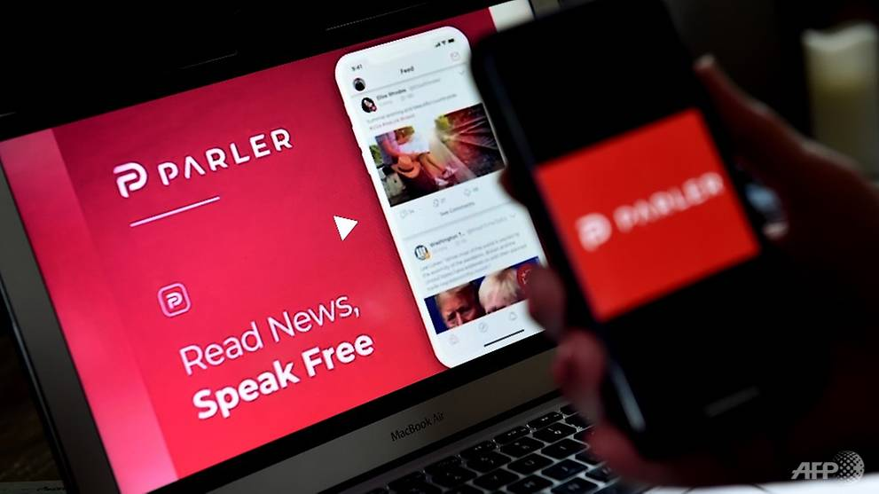 Conservative site Parler, banned by tech giants, is headed offline - CNA