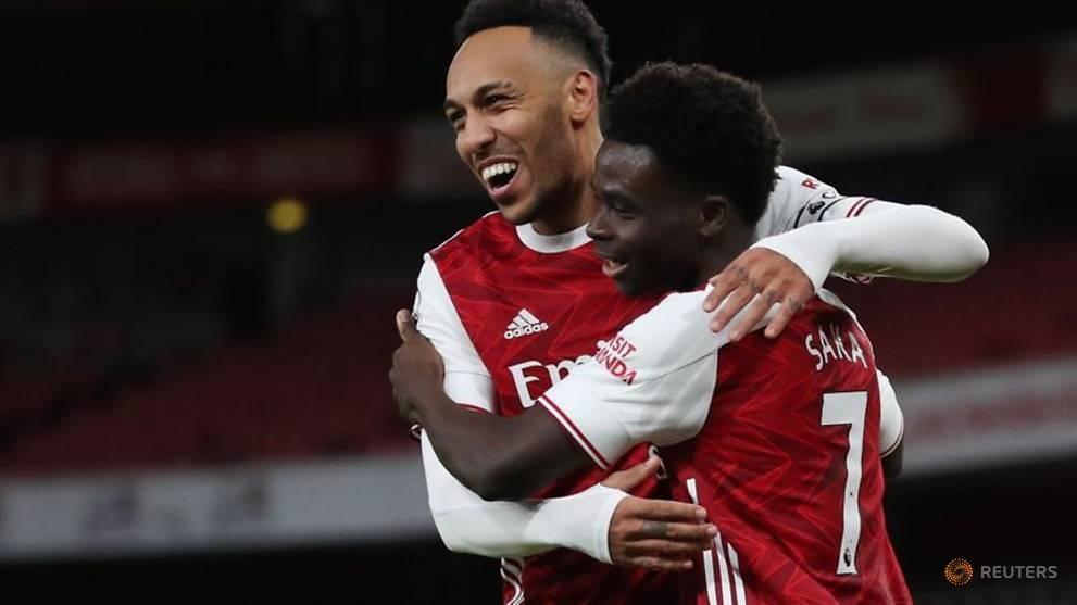 Aubameyang double gives Arsenal win over Newcastle - CNA
