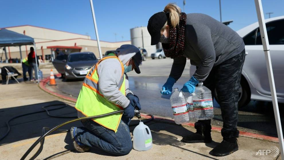 Texas restores power but still struggling with water