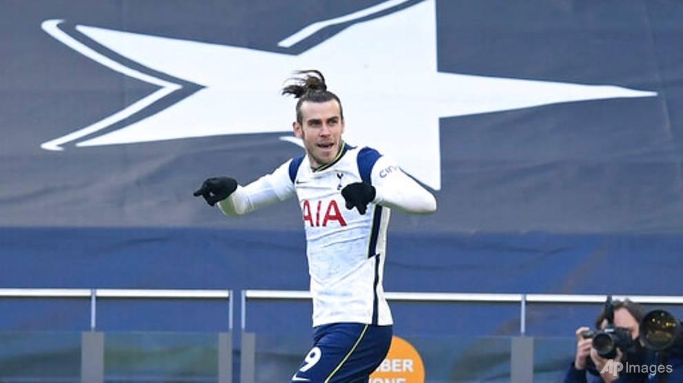 Football: Bale scores 2 as Tottenham routs Burnley in Premier League