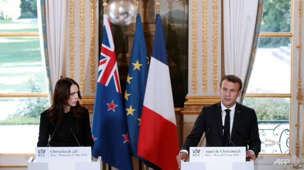 Macron, Ardern hold talks in new push against online extremism