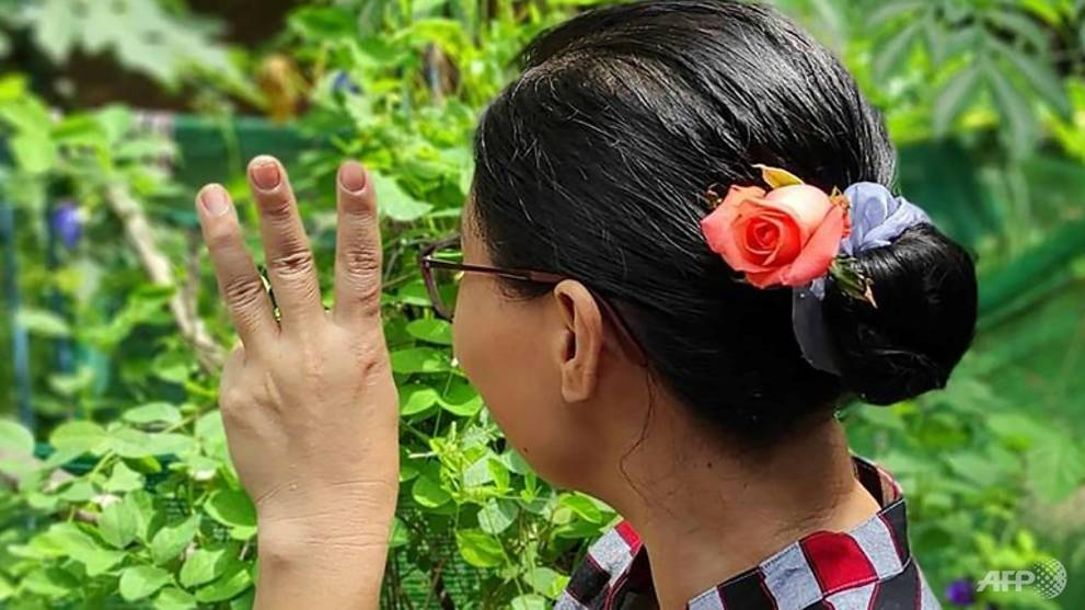 Myanmar's Aung San Suu Kyi thanks supporters for flower protests