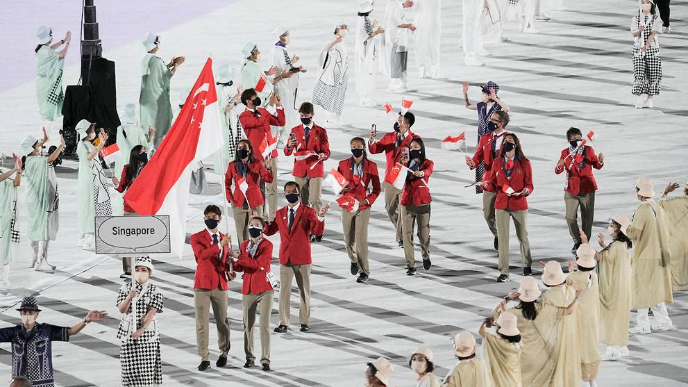 Tokyo Olympics declared open; Team Singapore led in by Loh Kean Yew and Yu Mengyu