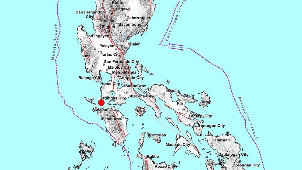 Magnitude 6.7 quake hits south of the Philippine capital
