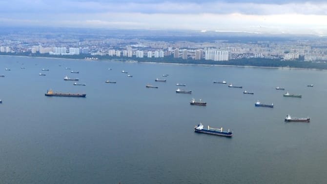 About one-third of global trade flows through the Malacca Strait, which runs between Indonesia,